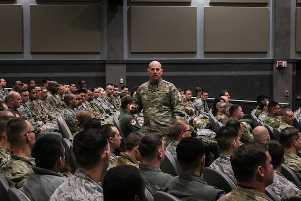 18th AF leadership visits Dyess