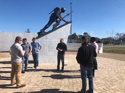 On March 29, 2019 Marines from Utilities Instruction Company (UIC) took some time away from training Marines and participated in a Sergeant led Professional Military Education (PME). The group spent the day at Camp Johnson and visited the Montford Point and Beirut Memorials.