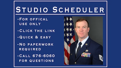 Online scheduler for official military photos.