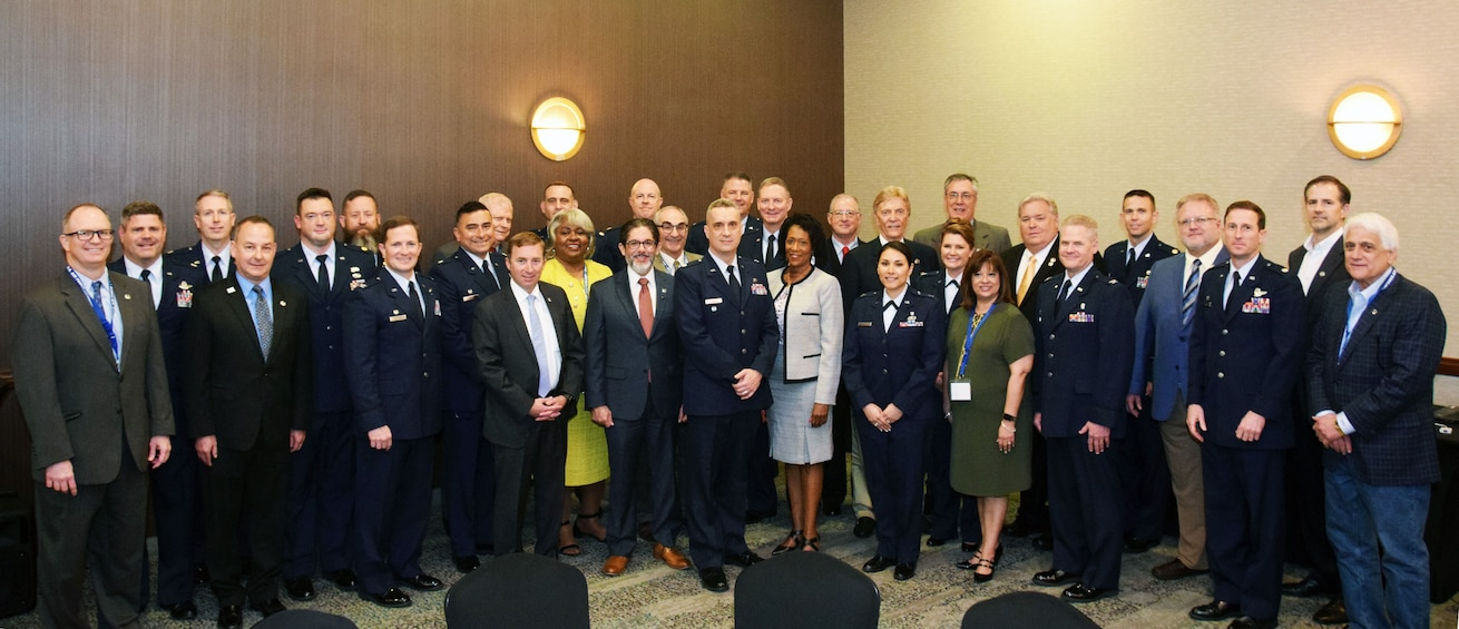 The 433rd Airlift Wing inducted 17 business and community leaders into the Alamo Wing's honorary commanders program during a ceremony April 6, 2019 at a hotel in San Antonio.
