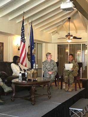 A diverse group of DoD employees and Inland Empire residents attended the 2019 Women's History Month Lunch and Learn panel at March Air Reserve Base, Calif., March 27. The event was organized by the 452nd Air Mobility Wing Airman and Family Readiness Center, Defense Media Activity (DMA) Riverside and Congressman Mark Takano's office.