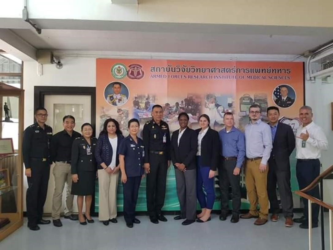 Synchronized Militaries of Association of South East Asian Nations Reporting Tools for Infectious and Environmental Surveillance, or SMARTIES, initiative team members conduct a planning conference at the Armed Forces Research Institute of Medical Sciences March 19 through 20, 2019.