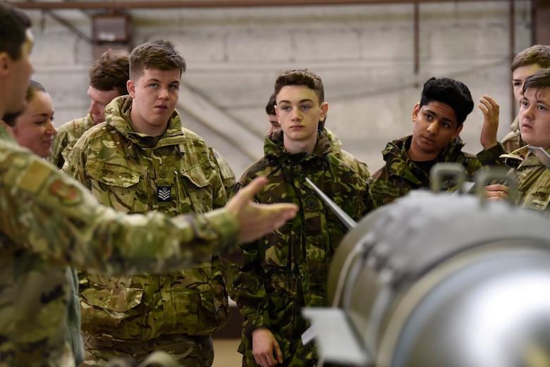 RAF cadets visit Spangdaglem Air Base