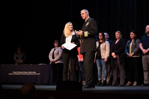 Puget Sound Naval Shipyard and Intermediate Maintenance Facility honored 33 of its top employees and Sailors during its annual Employee of the Year ceremony April 10, 2019, at the Admiral Theater in Bremerton, Washington.