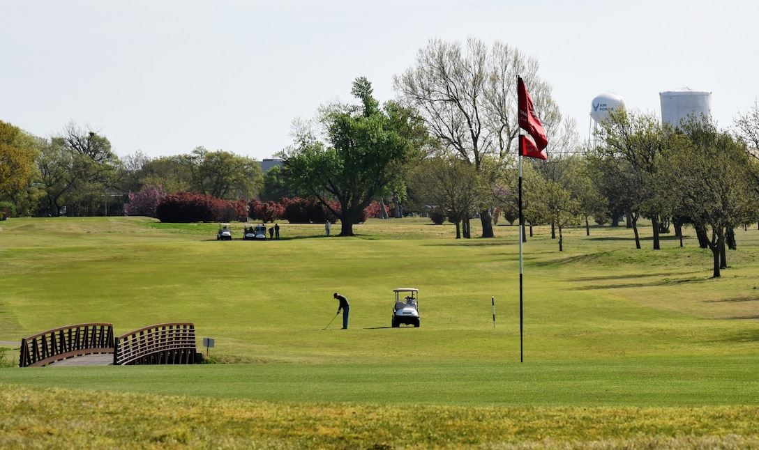 The Tinker Golf Course is open every day from sunrise to sunset. The 18-hole course regularly features specials for golfers and offers a pro-shop stocked with merchandise.