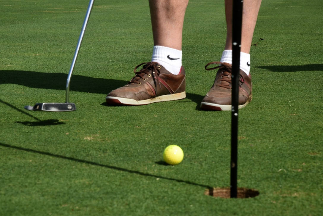 The Tinker Golf Course not only offers traditional golfing on its 18-hole course, but is currently offering soccer golf for a limited time.