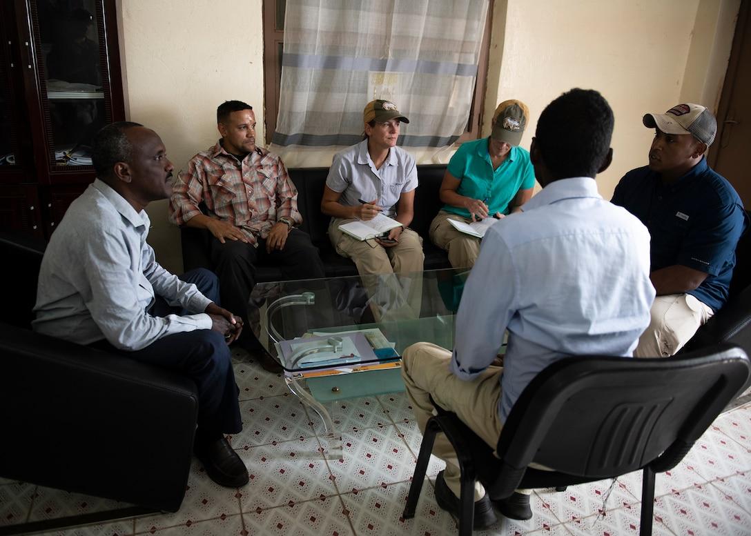 U.S. Army veterinarians visit remote Djibouti village to promote herd health