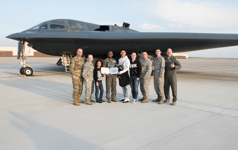 Tech. Sgt. Darius Charles, a Wing 2019 annual award winner, won an incentive flight in one of the base's B-2 Stealth Bombers.