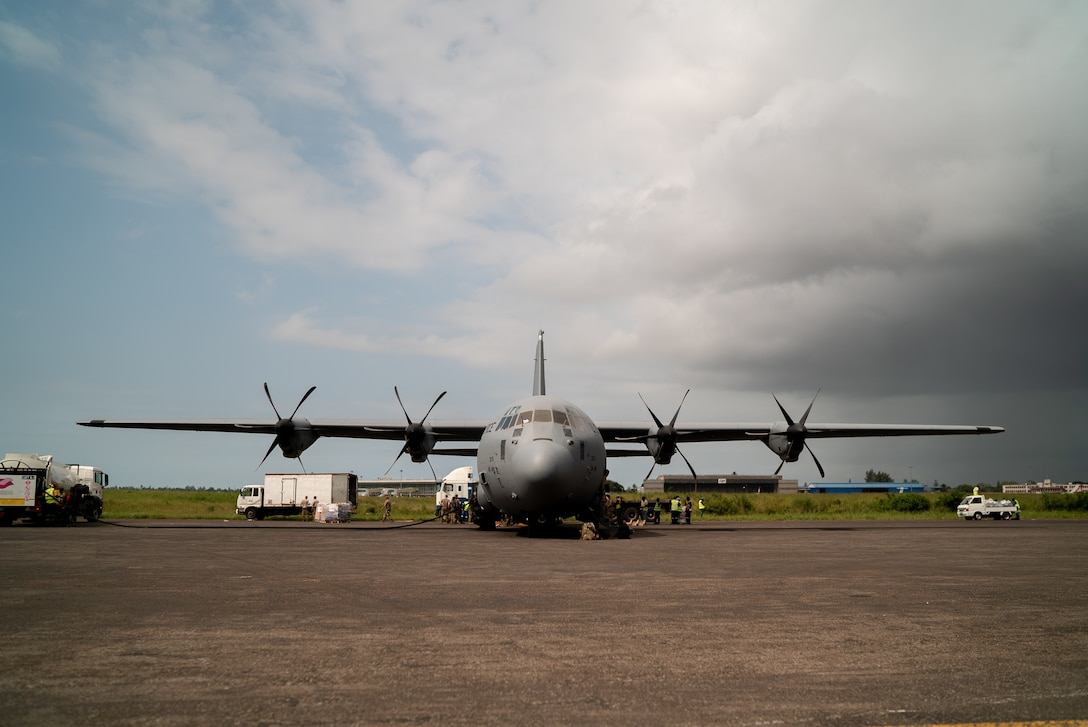 U.S. Military Delivers Humanitarian Relief Supplies In Mozambique