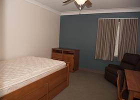 A newly renovated dorm room at the Atlantis Hall dormitory.