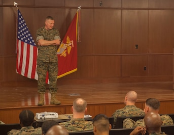 MARFORRES commander addresses Marines and Sailors