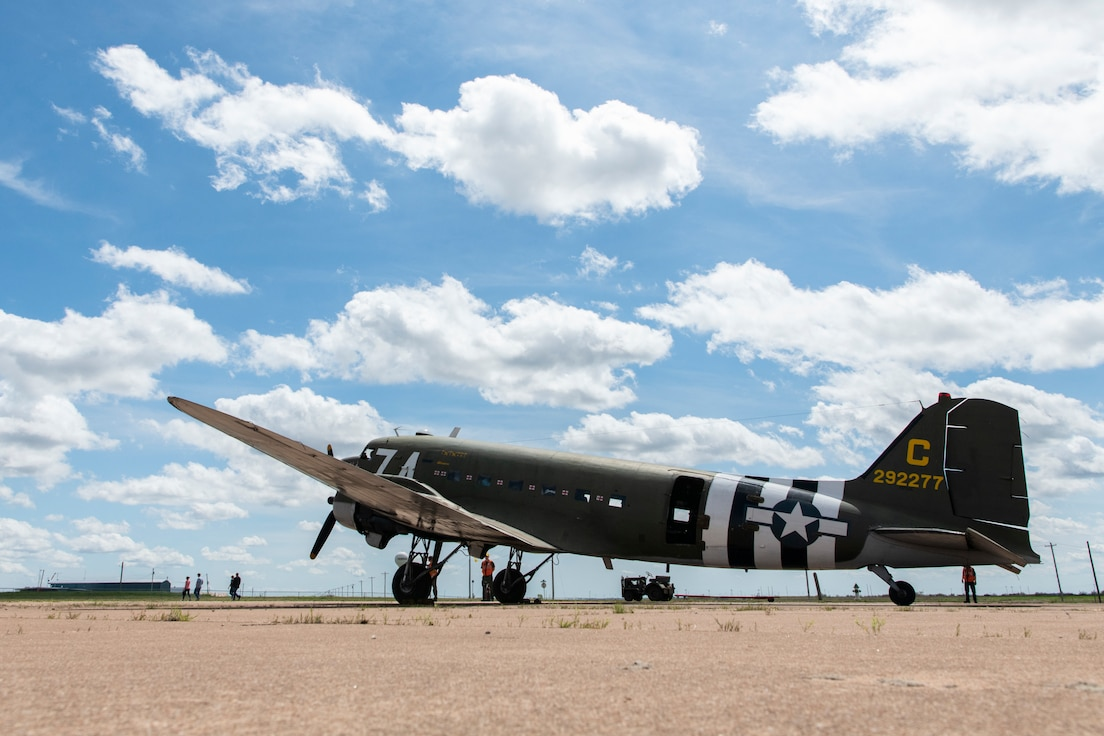 C-47 prepares for takeoff