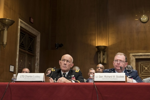 Scobee testifies before Senate Appropriations Subcommittee on Defense