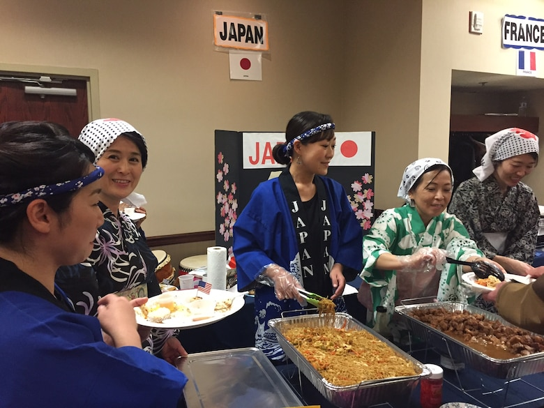 The cultures of many countries, including Japan, mingled at last year's International Fair, organized by the International Spouses' Group of Wright-Patterson Air Force Base, at the Holiday Inn in Fairborn. This year's fair will return to the Holiday Inn April 16. (Skywrighter photo/Amy Rollins)