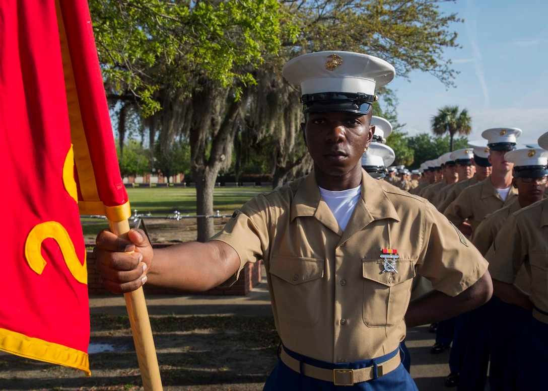 Pfc. Andre A. Henry graduated from Marine recruit training today as the company honor graduate of Company F, 2nd Battalion, Recruit Training Regiment. The honor graduate award recognizes the Marine who best exemplifies the total Marine concept, which encompasses physical fitness, marksmanship and leadership traits, during recruit training.  Henry, a native of Lehigh Acres, Florida, acted as platoon guide for Platoon 2026. Henry, was recruited at Recruiting Substation Fort Myers, by Staff Sgt. Carlos Villeda.   Please send all queries to the Assistant Marketing and Communications Officer, 2nd Lt. Mackenzie Margroum, Mackenzie.margroum@marines.usmc.mil