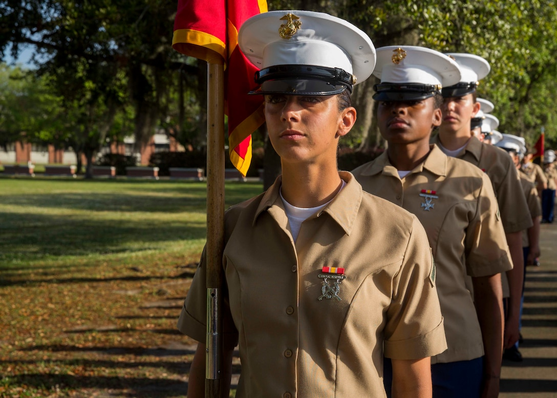 Pfc. Kerrin B. Allen graduated from Marine recruit training today as the platoon honor graduate of Platoon 4012, Company P, 4th Battalion, Recruit Training Regiment. The honor graduate award recognizes the Marine who best exemplifies the total Marine concept, which encompasses physical fitness, marksmanship and leadership traits, during recruit training.  Allen, a native of Orlando, Florida, acted as platoon guide for Platoon 4012. Allen, was recruited at Recruiting Substation Orlando, by Sgt. Liam M. Wohlberg  Please send all queries to the Assistant Marketing and Communications Officer, 2nd Lt. Mackenzie Margroum, Mackenzie.margroum@marines.usmc.mil
