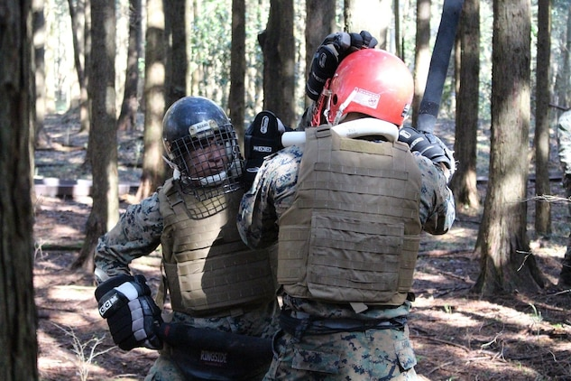 After three grueling weeks of intense physical and mental training, Marines completed the Marine Corps Martial Arts Instructor Course April 10 at Combined Arms Training Center Camp Fuji, Gotemba, Japan.