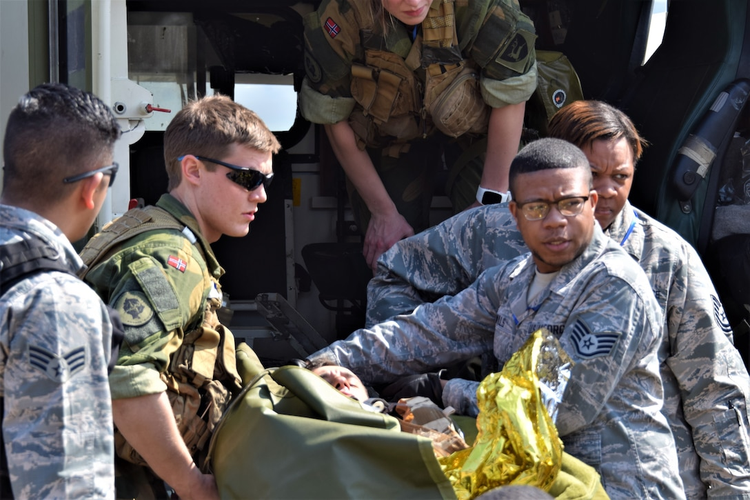 Vigorous Warrior 19 is NATO's largest-ever military medical exercise, uniting more than 2,500 participants from 39 countries to exercise experimental doctrinal concepts and test their medical assets together in a dynamic, multinational environment. (U.S. Air Force photo by 1st Lt. Andrew Layton)