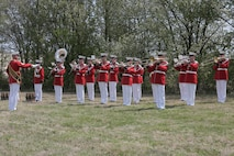 """""""The President's Own"""" United States Marine Band honored Vietnam War Medal of Honor Recipient Lt. Col. Howard V. Lee as he was laid to rest at Colonial Grove Memorial Park in Virginia Beach, Va."""