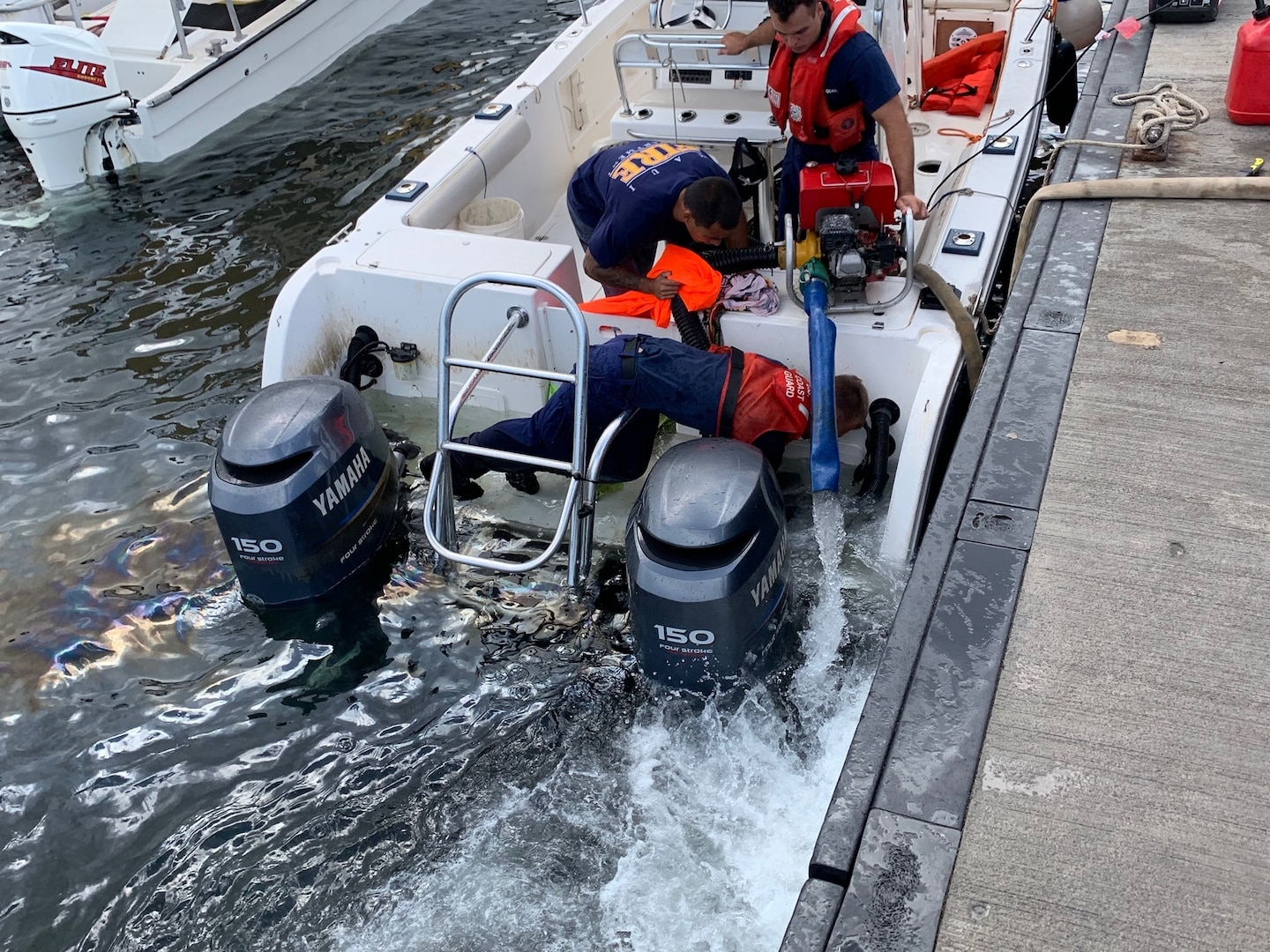 Coast Guard, Maui Fire Department Assist Vessel Taking on Water off Maui