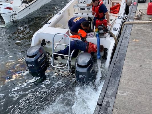 Coast Guard, Maui Fire Department Assist Vessel Taking on Water off Maui