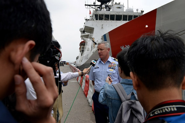 Coast Guard Ship Visits Hong Kong