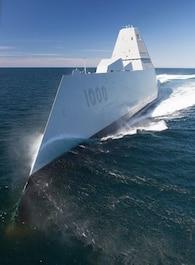 USS Zumwalt starts voyage to San Diego home port
