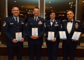 934th Airlift Wing Airmen were recognized for their outstanding achievements by the Minnesota Air Force Association Chapter at the Town & Country Club in Saint Paul, Minn., April 5, 2019.