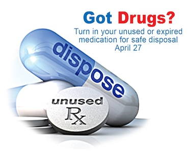 Members of JB Charleston can bring their unused or expired prescription pills for disposal to the Air Base BX or the Naval Weapons Station NEX on April 27, from 10 a.m. to 2 p.m. Event coordinators say they cannot accept liquids, needles/sharps, but they will accept pills and patches. The service is free and anonymous, no questions asked.