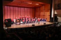 """On April 7, 2019, kids of all ages were swinging in their seats as """"The President's Own"""" United States Marine Band demonstrated the incredible sound of big band music!"""