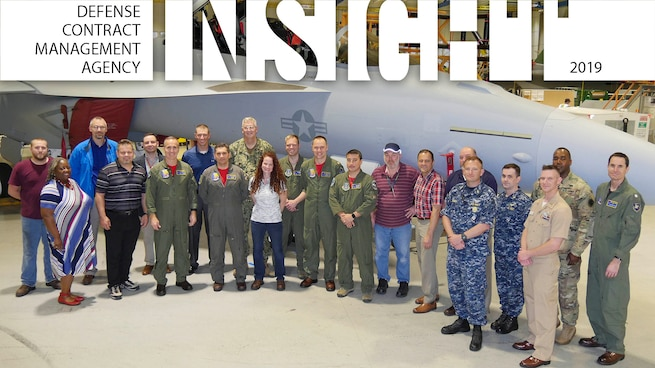 Group photo in front of EA-18G.