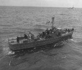 "Coast Guard Rescue Flotilla One's ""USCG 1"" off Normandy."