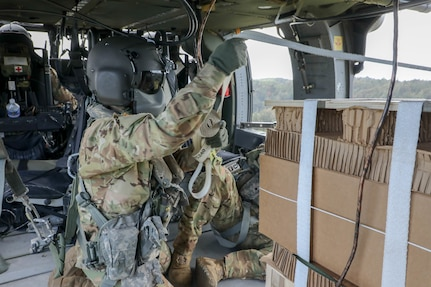Sustainers Resupply Units using Aerial Delivery during Lightning Strike