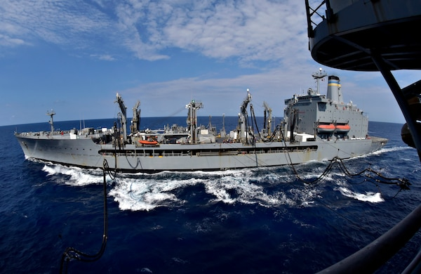 U.S., Japan Maritime Forces Conduct Replenishment-at-Sea