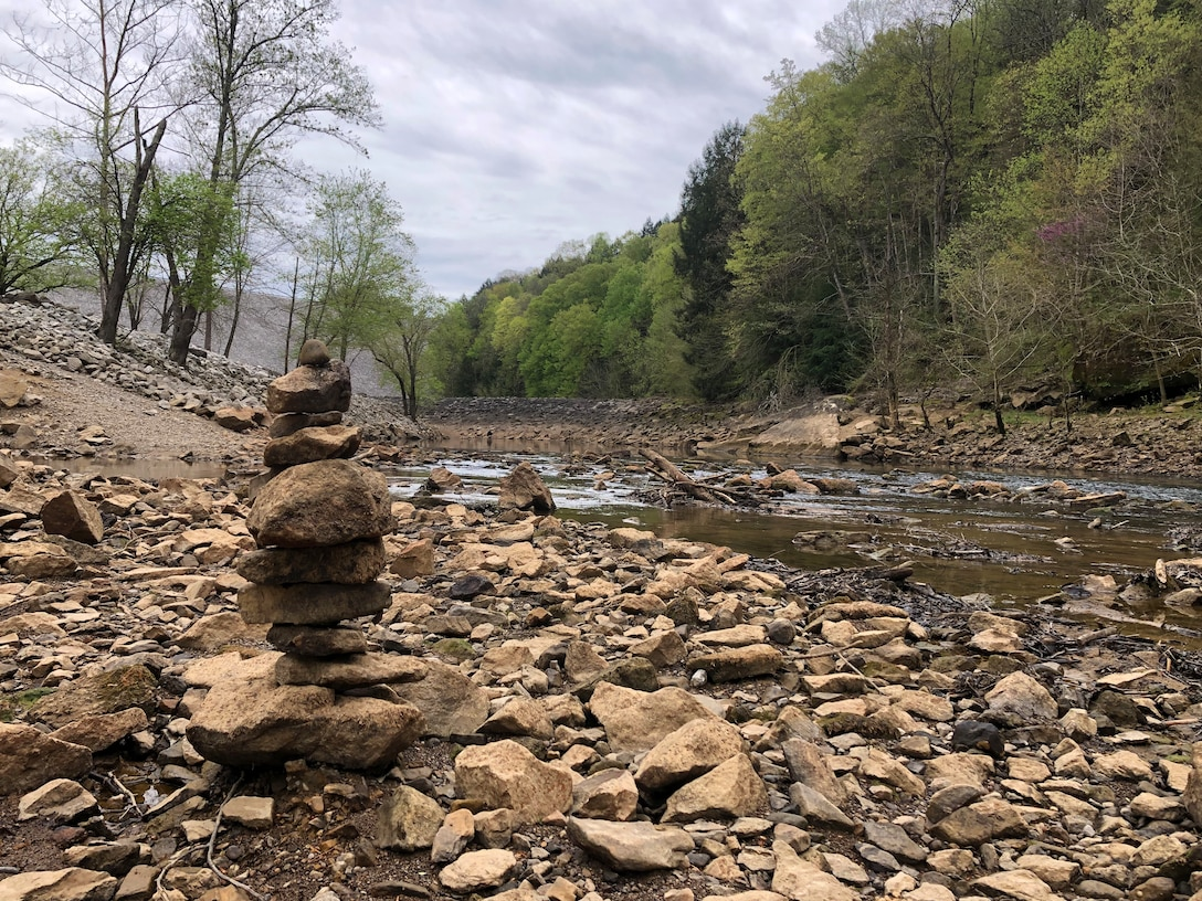 Nolin River Lake visitors stack rocks
