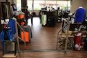 The Tinker Air Force Base Golf Course has a fully stocked professional shop featuring apparel and golf equipment inside the club house as shown on April 16, 2019, Tinker Air Force Base, Oklahoma. The golf course facilities are undergoing renovation and improvements to better serve their patrons.