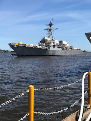 The guided-missile destroyer USS Fitzgerald (DDG 62) took another step toward returning to the fleet as a fully ready, combat-capable ship.