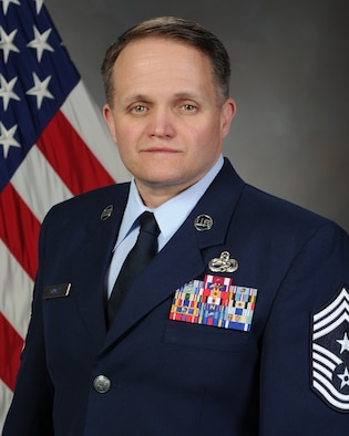 Chief Master Sgt. Paul Strazz, 419th Fighter Wing command chief