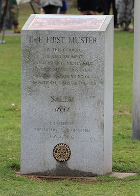Members of the oldest military units in the nation, the 101st Engineers, the 101st Field Artillery, the 181st Infantry and the 182nd Infantry gathered for the 382nd Salem Muster on Salem Common, April. 13, 2019, just as the same units did in 1637.