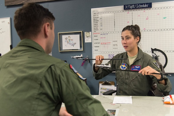 "1st Lt. Kimberly Bray, 434th Flying Training Squadron T-6A instructor pilot and flight scheduler, was chosen by wing leadership to be the ""XLer"" of the week, for the week of April 8, 2019, at Laughlin Air Force Base, Texas. The ""XLer"" award, presented by Col. Lee Gentile, 47th Flying Training Wing commander, is given to those who consistently make outstanding contributions to their unit and the Laughlin mission."
