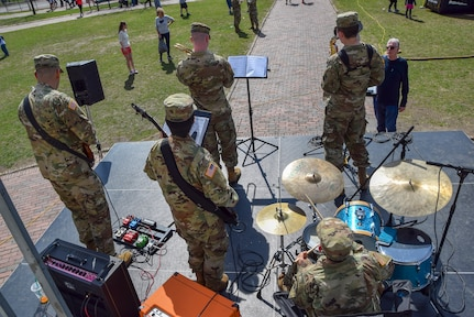 U.S. Army Reserve 78th Army Band Jazz Combo performs during the Meet Your Army Week event in the Boston Commons, in Boston, Massachusetts, April 13. The U.S. Army offers 150 career choices. Army musicians perform in a variety of ensembles ranging from ceremonial band to jazz band to small ensembles, playing all styles of music. They are primarily responsible for performing and rehearsing as a professional musician within different ensembles of an Army band.