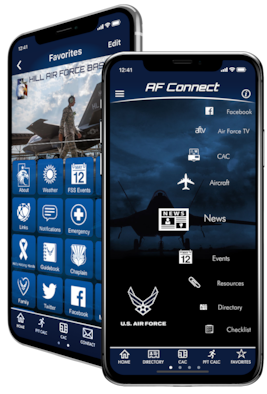 Smart phone users now have an additional method for obtaining Hill Air Force Base information, as the base has been added to the USAF Connect phone application.