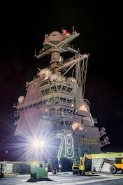Gerald R. Ford CVN 78 island. Photo by John Whalen