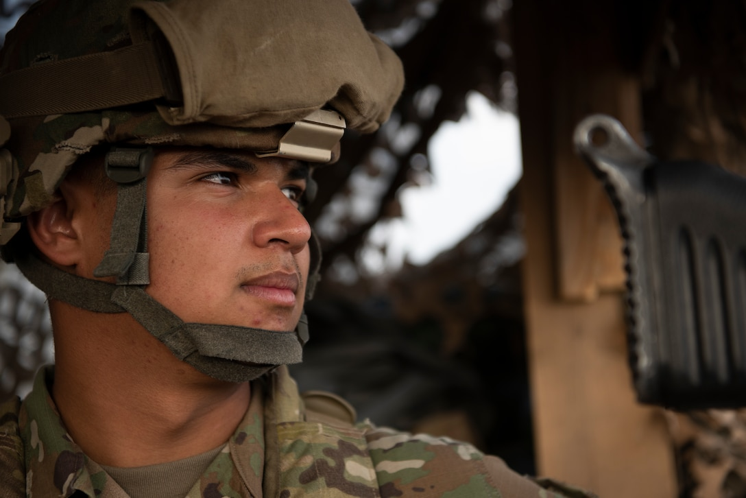 An Airman provides security for the Anbar Operations Center