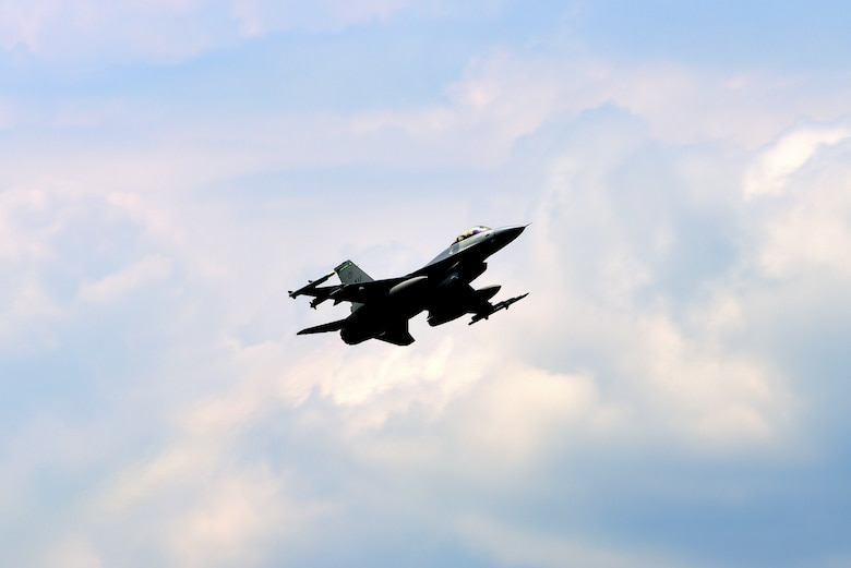 An F-16 Fighting Falcon