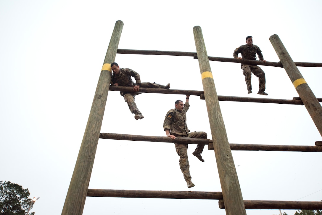 Airmen compete in the Malvesti portion of the Best Ranger Competition