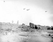 The aftermath: debris litters the beaches of Normandy.