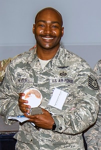Outstanding Active-Duty Volunteer of the Year, Tech. Sgt. Quatrell Nevels, 75th Intelligence Squadron at JBSA-Lackland