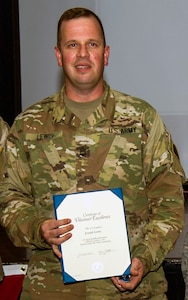 Volunteer Excellence Award, Staff Sgt. Joseph Lewis, 502nd Force Support Squadron