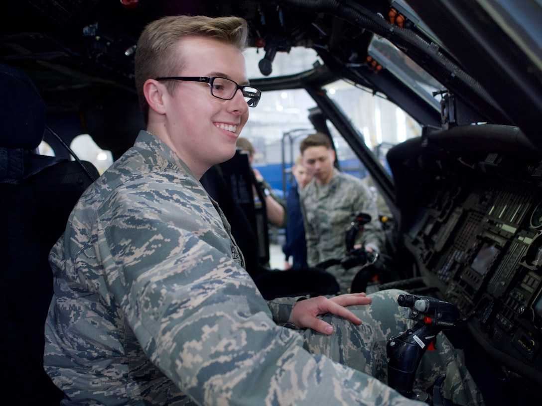 UAA Air Force ROTC cadets tour 176th Wing.